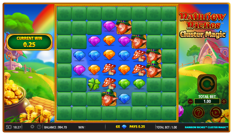 Rainbow Riches Cluster Magic Slots Reels