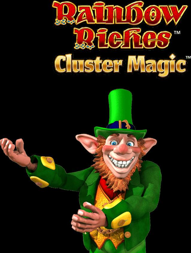 Rainbow Riches Cluster Magic Slot Logo Thor Slots