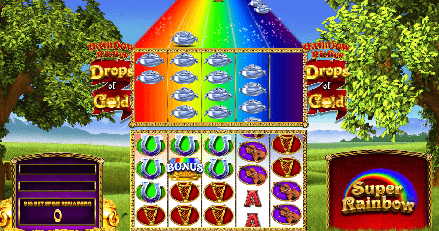 Rainbow Riches: Drops of Gold Slot Game