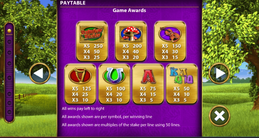 Rainbow Riches: Drops of Gold Slots Symbols