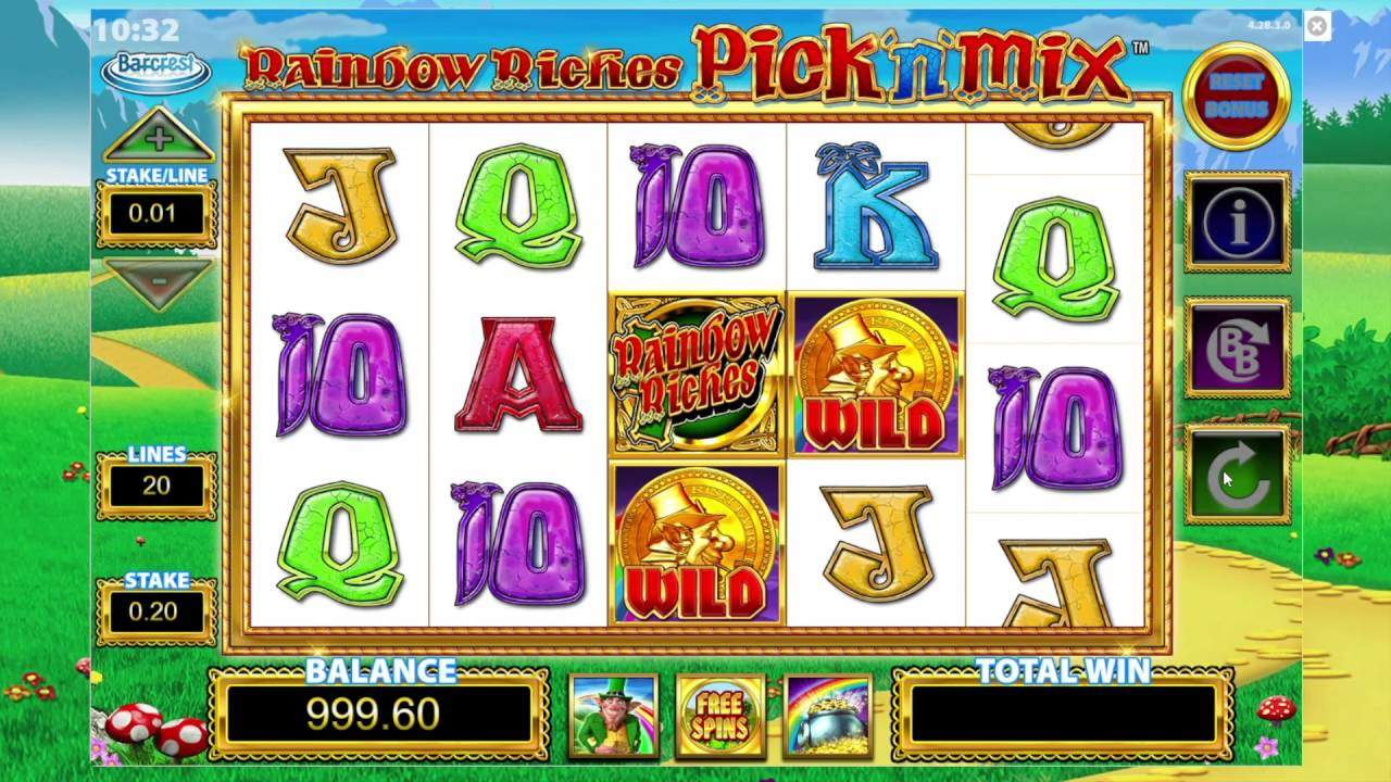 Rainbow Riches Pick N' Mix Slots Game