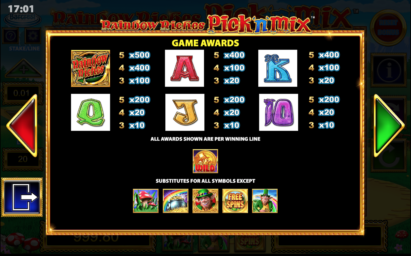 Rainbow Riches Pick N' Mix Slots Online
