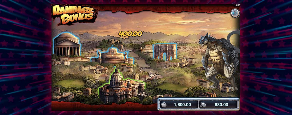 Rampage Riches Slot Bonus