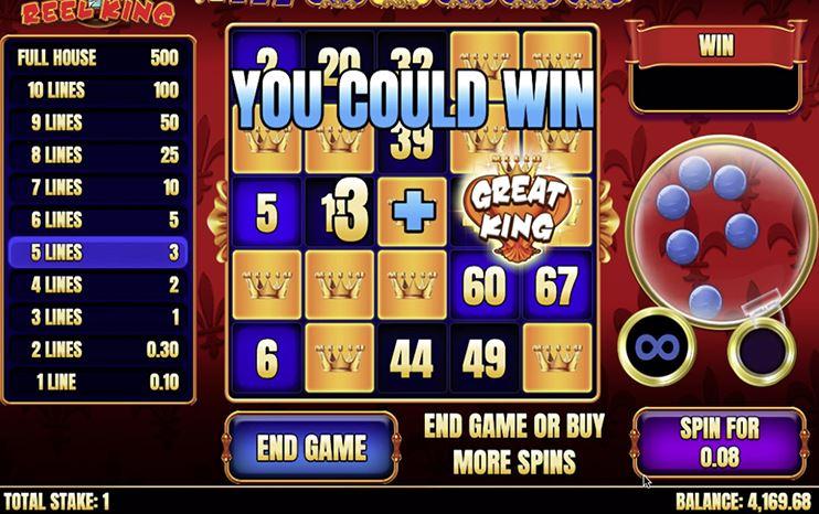 Slingo Reel King Slot Gameplay