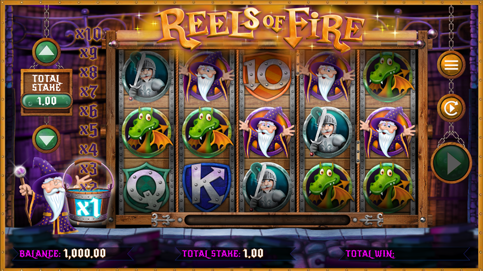 Reels of Fire Slot Thor Slots