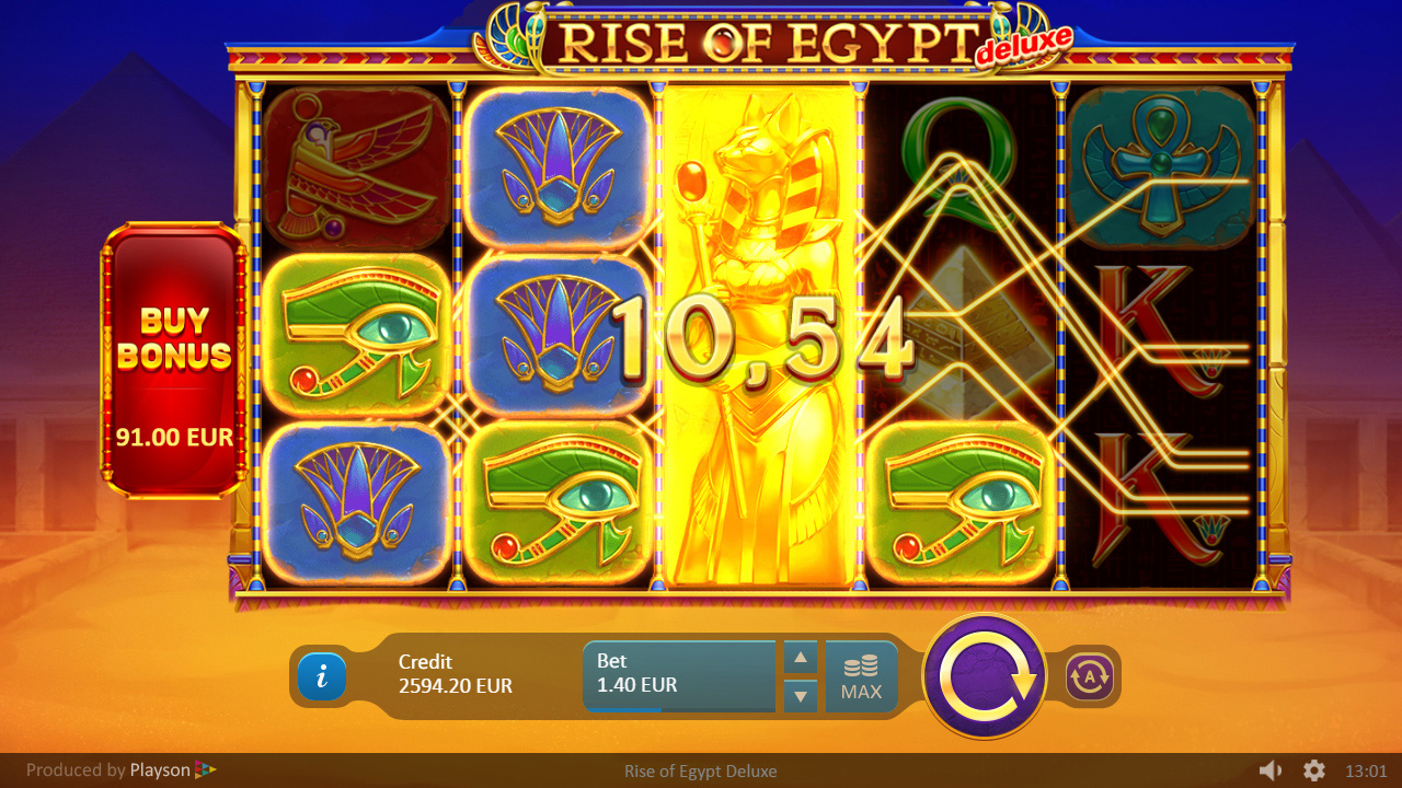 Rise of Egypt Deluxe Slot Win