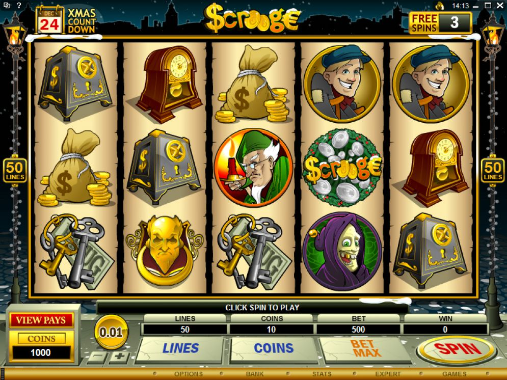 Scrooge Slot Gameplay