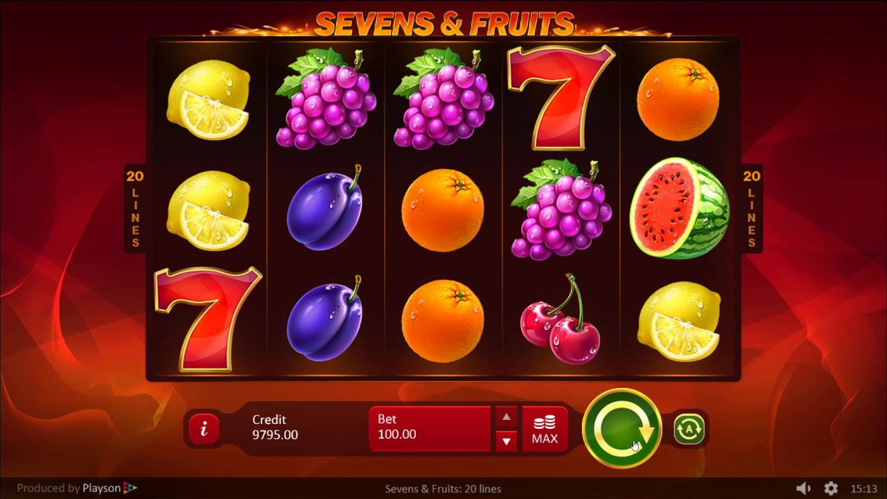 Sevens and Fruits Slot Game