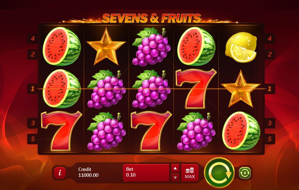 Sevens & Fruits: 20 Lines Slot Game
