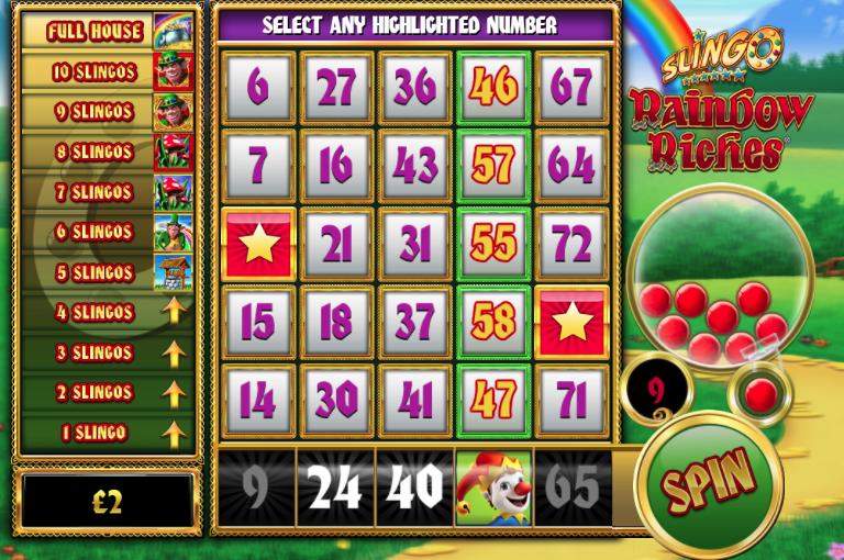 Slingo Rainbow Riches Slot Game