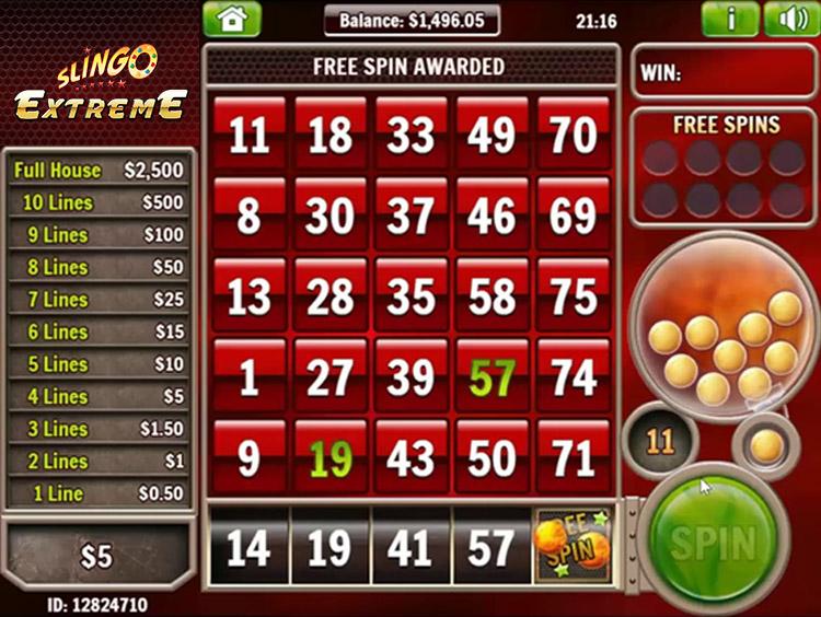 Slingo Extreme Slot Online