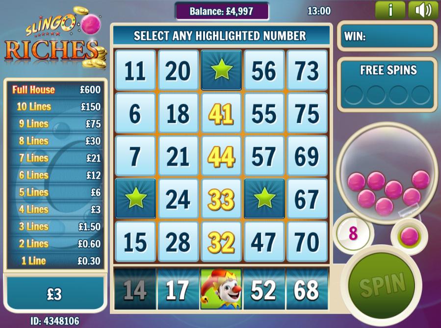 Slingo Riches Slot Online