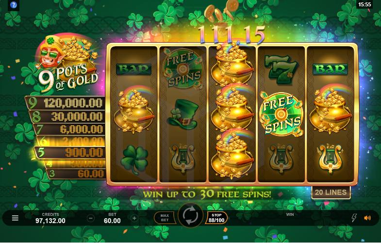 9 Pots of Gold Slot Online