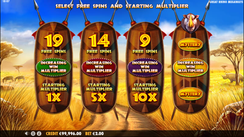 Great Rhino MegaWays Free Spins slot
