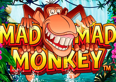 Mad Mad Monkey Slots Logo