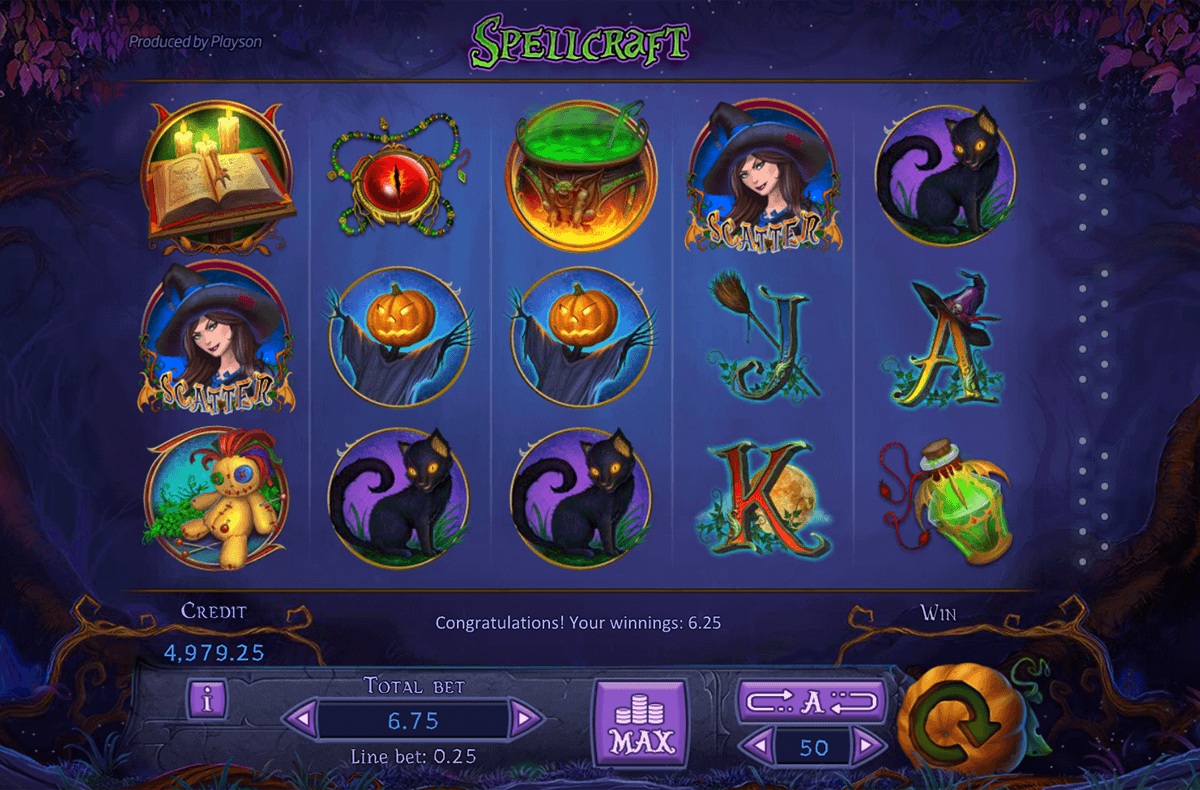 SpellCraft Slot Game Play