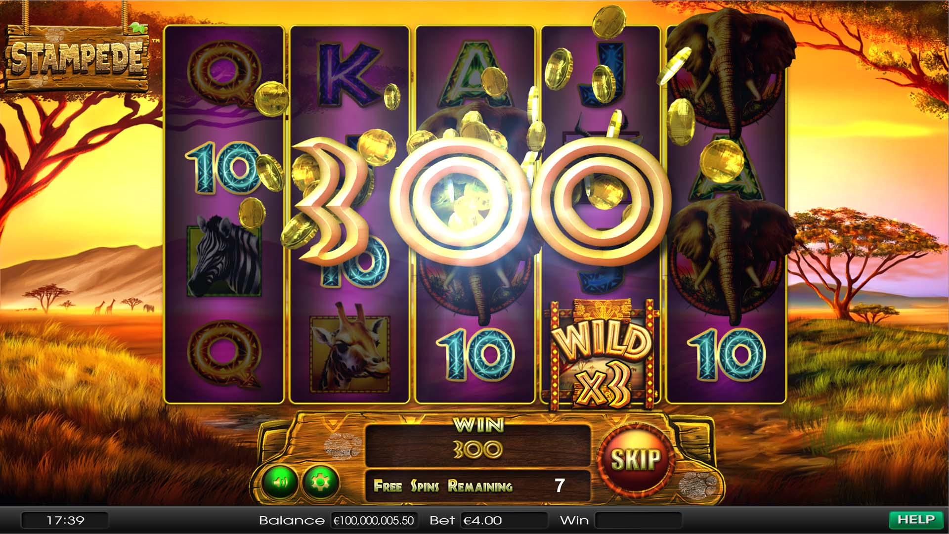 Play Stampede Jackpot Slot Game