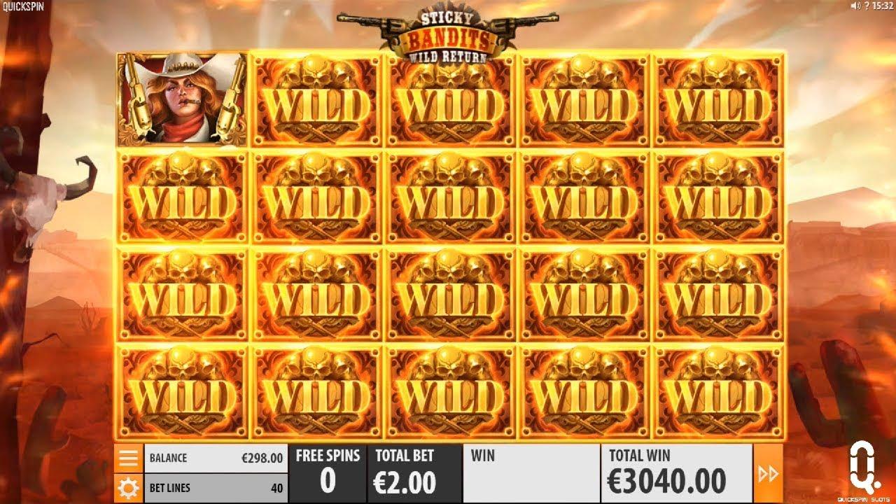 Sticky Bandits Slot Big Win