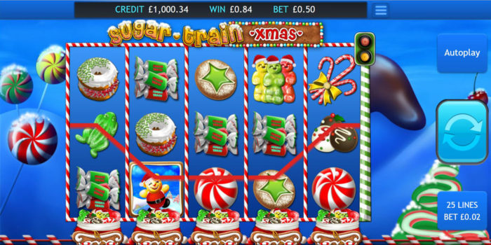 Sugar Train Xmas Slot Gameplay