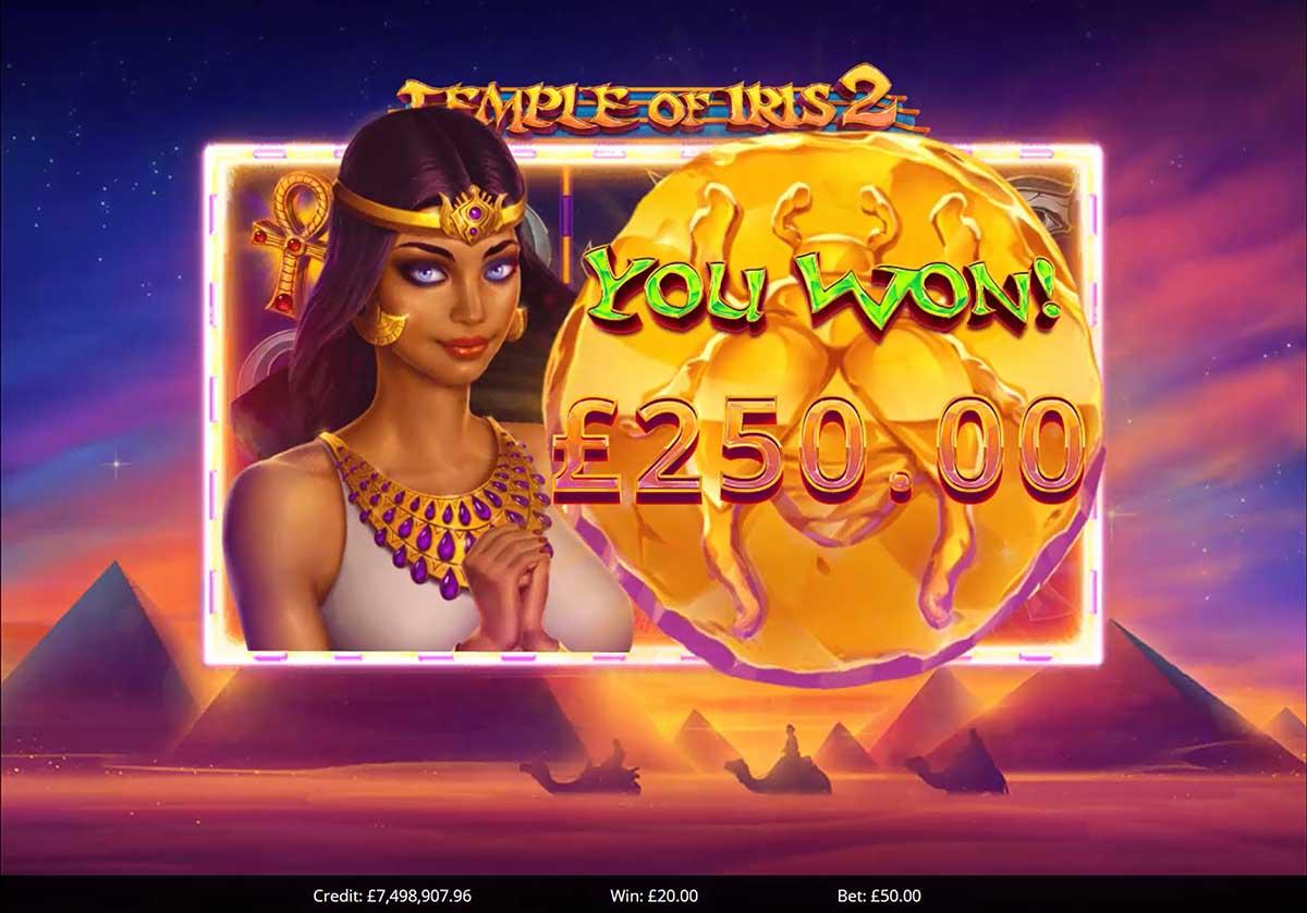 Temple of Iris 2 Slots Big Win