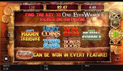 The Goonies JPK Slot Bonus Features