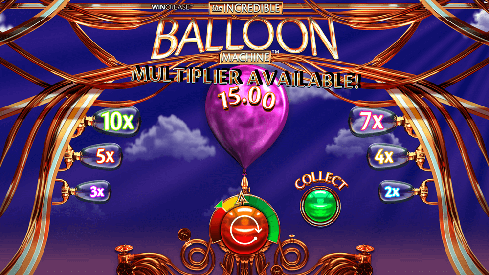 The Incredible Balloon Machine Slot Bonuses