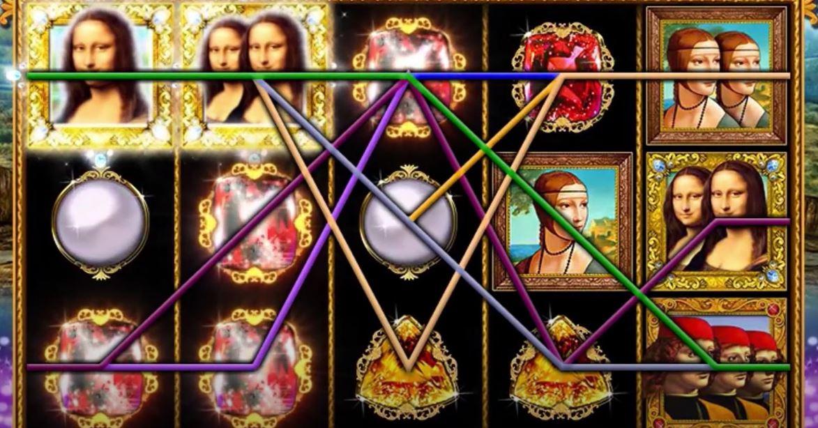Triple Double Da Vinci Diamonds Slot Gameplay