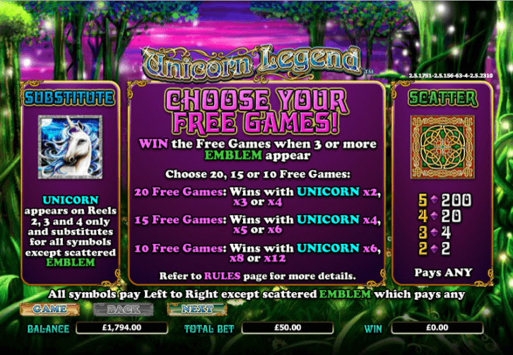Unicorn Legend Free Slots