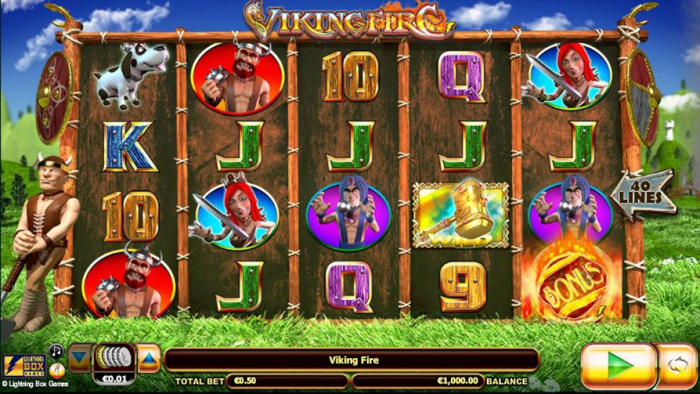 Viking Fire slot gameplay