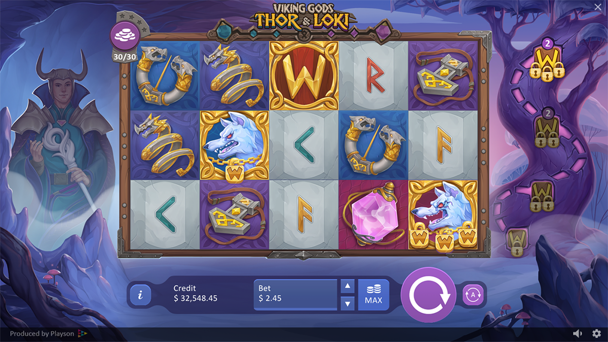 Viking Gods Thor and Loki Slots