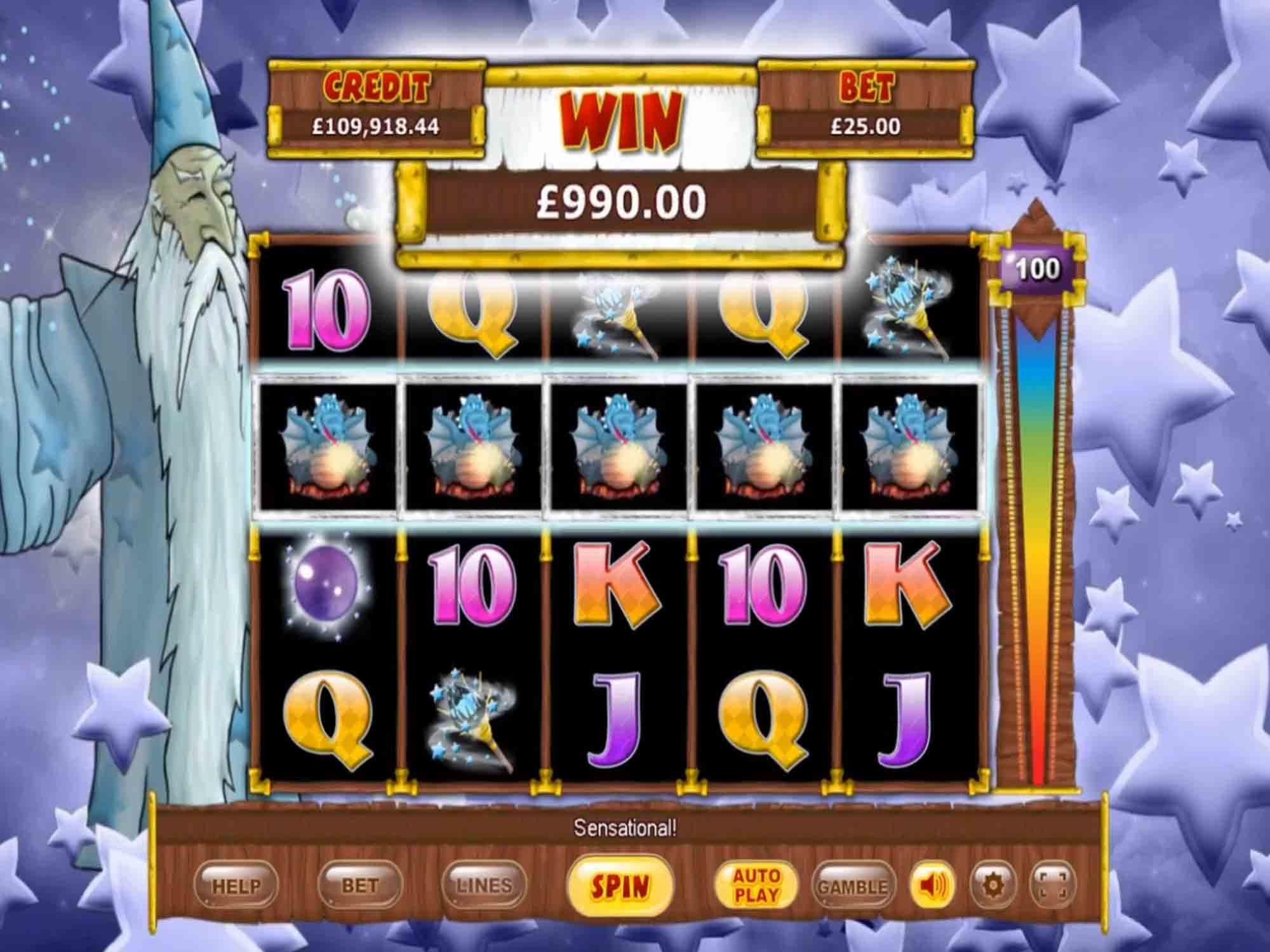 White Wizard Jackpot Slot Gameplay
