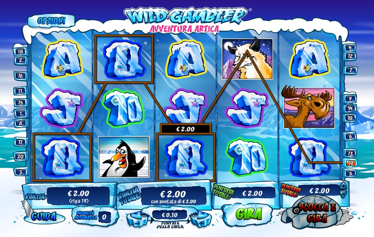 Wild Gambler Arctic Adventure Slots Reels