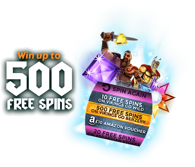 Win up to 500 Free Spins on Vikings Go Berzerk